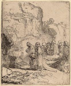 Rembrandt van Rijn Christus Gedragen naar het graf