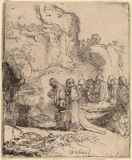 Rembrandt van Rijn Christus Gedragen naar het graf van Rembrandt van Rijn