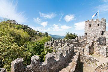 Moorish Castle, in Sintra, Portugal. von Aukelien Minnema