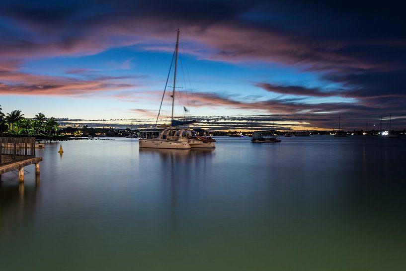 Grand Baie, Mauritius, Avond van Danny Leij