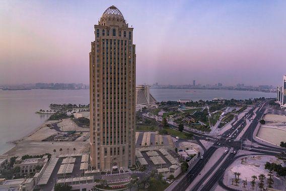 Skyline Doha Qatar zonsopgang