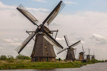 Windmolens op de Kinderdijk van Stefan Verheij