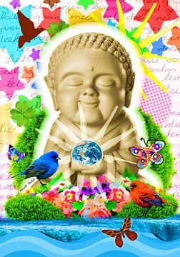 Fröhlicher Buddha von Nicole Roozendaal