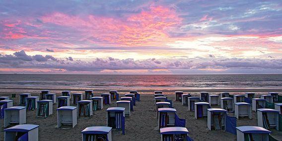 zonsondergang in Katwijk