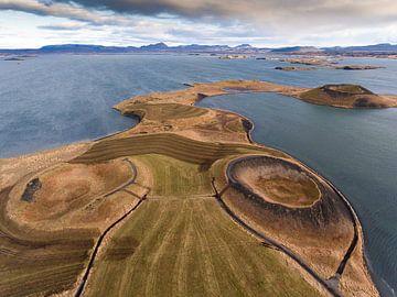 Myvatn IJsland van Ben van Boom