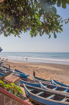 Surfersdorp Taghazout in Marokko van Bianca Kramer