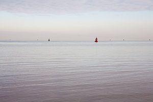 Stille auf dem Wattenmeer von Jim van Iterson