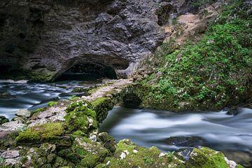 Verborgen rivier in  Rakov Škocjan Slovenië van Leontine van der Stouw
