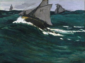 La Vague verte, Claude Monet sur