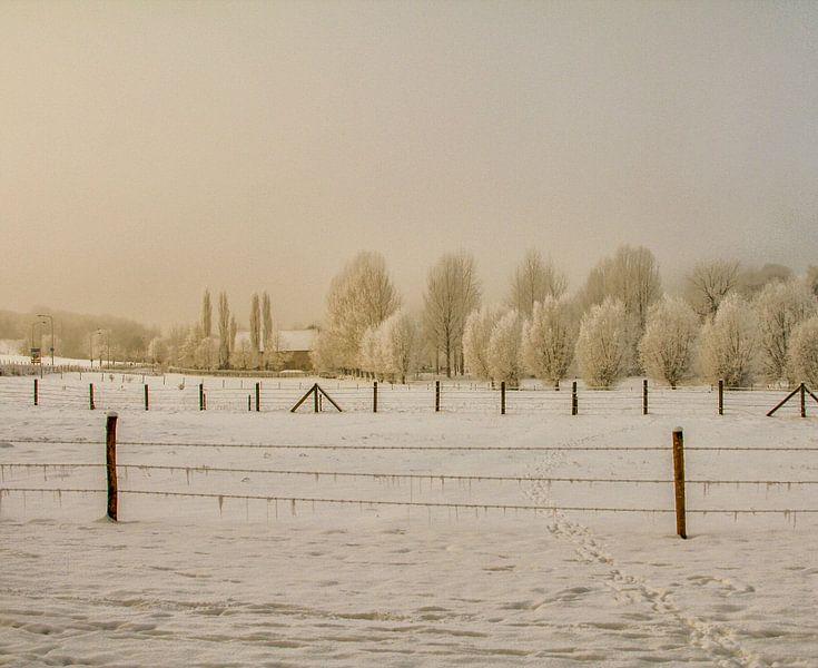 Bulkem Simpelveld in de sneeuw van John Kreukniet