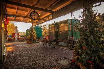 Station Simpelveld in Kerstsfeer van