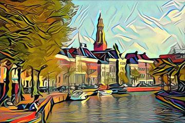 Höhe des Aa im Stil von Picasso von Slimme Kunst.nl
