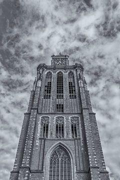 Grote Kerk in Dordrecht - zwart-wit von Tux Photography