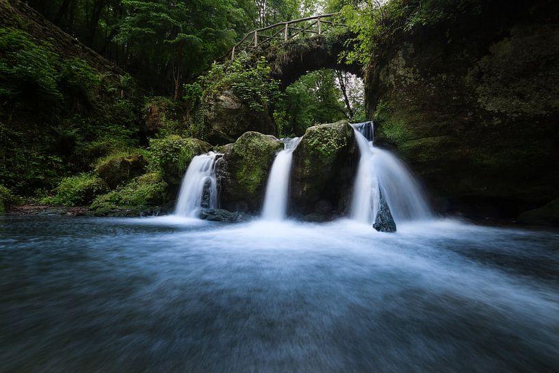 De Schiessentumpel waterval in Luxemburg van Niels Eric Fotografie