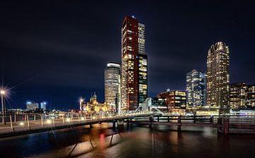 Rotterdam Skyline van Mario Calma
