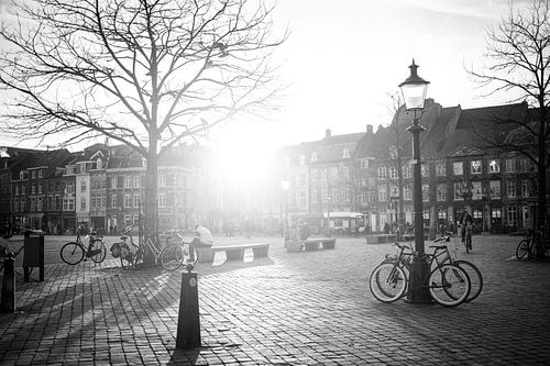 Marktplatz in Maastricht in der Nachmittagssonne von Streets of Maastricht