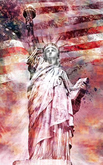 Modern-Art Statue Of Liberty   rood