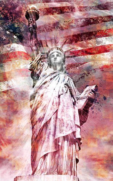 Modern-Art Statue Of Liberty   rood van Melanie Viola