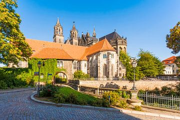 Fürstenwall und der Dom in Magdeburg von Werner Dieterich