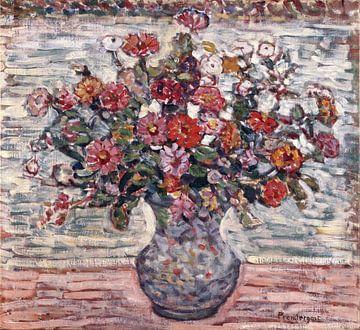 Fleurs dans un vase, Maurice Brazil Prendergast sur