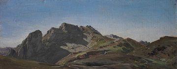 Carlos de Haes-Graue Berglandschaft, Antike Landschaft