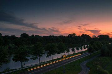 Zonsondergang van Starkenborghkanaal te Groningen von