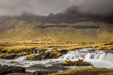 Wasserfall, Island von Fenna Duin-Huizing