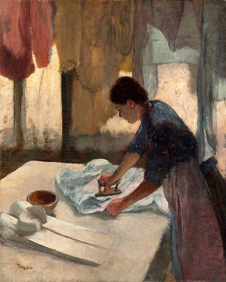 Strijkende vrouw, Edgar Degas