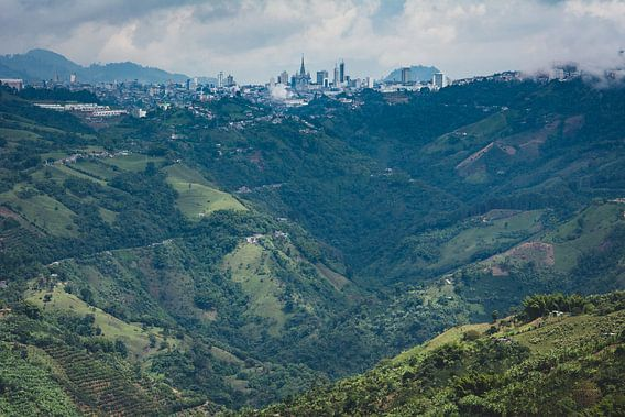 Stad in de Andes