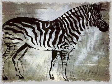 Zebrapaard Zilveren Beauty von Nicky`s Prints
