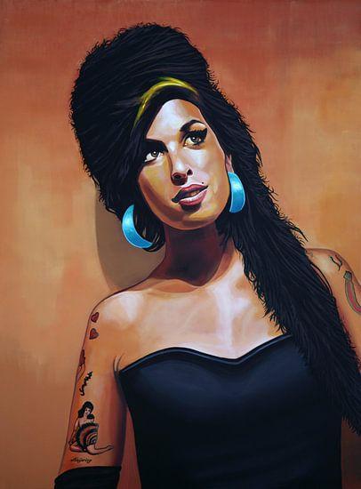 Amy Winehouse schilderij van Paul Meijering