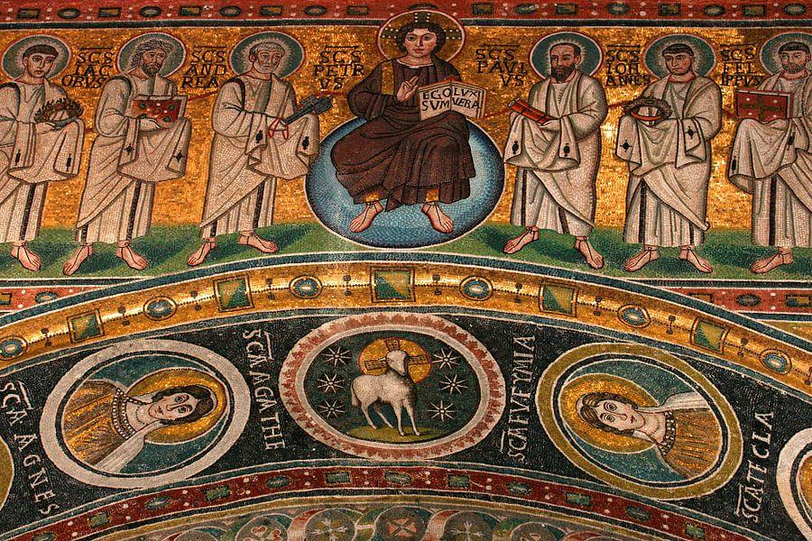 Mozaïek in de Eufrasiusbasiliek in Porec