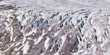 Gletsjer-trekking op de Rhône-gletsjer in Zwitserland van Werner Dieterich