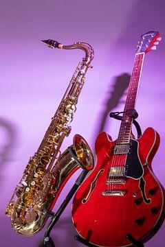 Saxofoon en Gitaar van Antoon van Osch