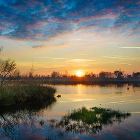 De Groote Peel bij zonsondergang van Nando Harmsen