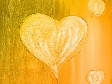 Herz orange van Katrin Behr