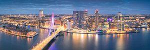 Unieke Panorama Rotterdam Skyline - Zalmhaventoren van Vincent Fennis