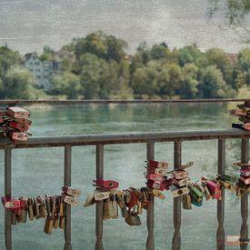 Liefdesslotjes   Bad Säckingen   Rivier de Rijn van Marianne Twijnstra-Gerrits