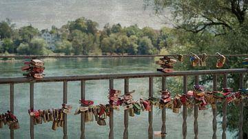 Liefdesslotjes   Bad Säckingen   Rivier de Rijn