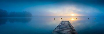 Sonnenaufgang am See von Martin Wasilewski