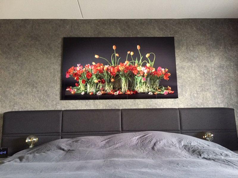 Klantfoto: Tulpen stilleven van Dirk Verwoerd, op staal