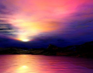 Couleurs du coucher du soleil van