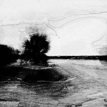 landschap onder destructie #02 van Peter Baak