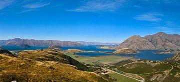 Aussichtspunkt Rocky Peak: Blick auf Lake Wanaka und Roys Peak von Maurits Simons