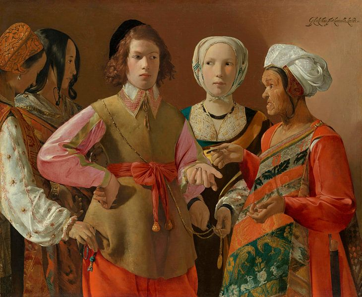 Der Wahrsager, Georges de La Tour von Meesterlijcke Meesters