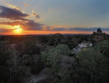 Coucher de soleil à Tikal sur Ryan FKJ