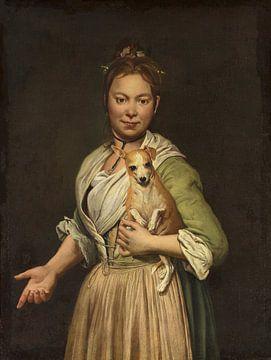Eine Frau mit einem Hund, Giacomo Ceruti - 1740