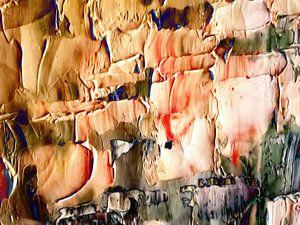 Abstrakt in irdischen Farben