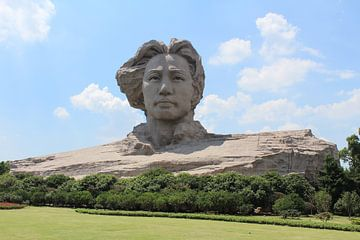 Mao statue Changsha China van