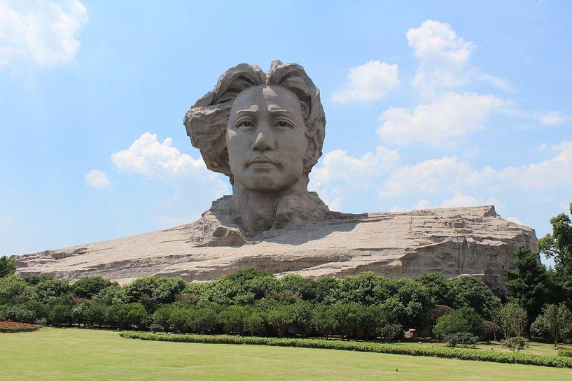 Mao statue Changsha China van Martin van den Berg Mandy Steehouwer